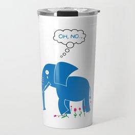 Sad Elephant Travel Mug