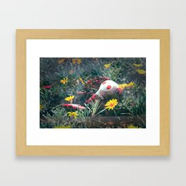 Molly in the Sunshine Field Framed Art Print