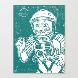 Out of the Cradle, Endlessly Orbiting (White Sea) Canvas Print