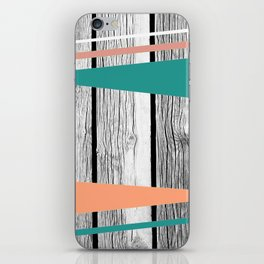 Colored arrows on wood iPhone Skin