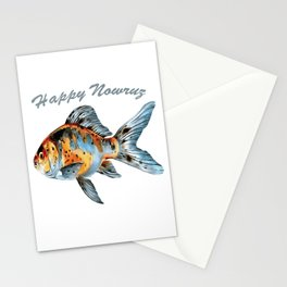 Happy Nowruz Shubunkin Goldfish Persian New Year Stationery Cards