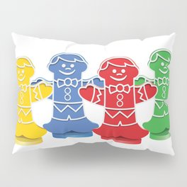 Candy Board Game Figures Pillow Sham