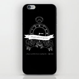 """""""Living is a problem because everything dies"""" - part II - Biffy Clyro iPhone Skin"""