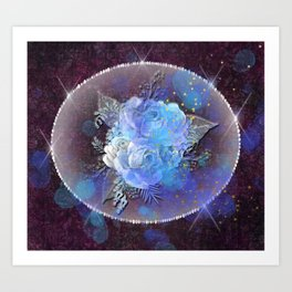 Galaxy Rose Art Print