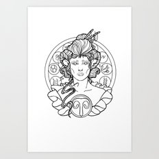 Zodiac Series | Aries Art Print