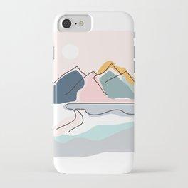 Minimalistic Landscape iPhone Case