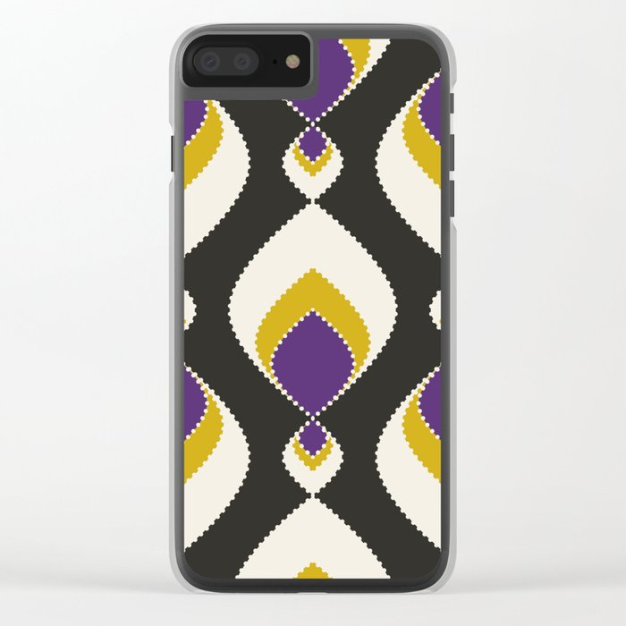 """Abstract pattern """" Carnival """". Clear iPhone Case"""