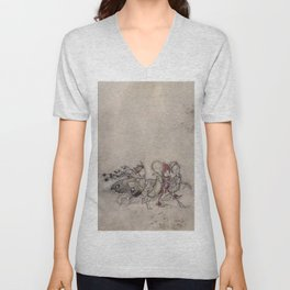 """Midsummer Fairies"" by Arthur Rackham Unisex V-Neck"