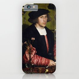 "Hans Holbein the Younger ""Portrait of the Merchant Georg Gisze"" iPhone Case"