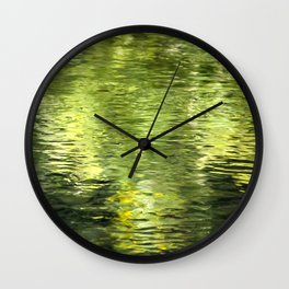Green Water Abstract Art Wall Clock