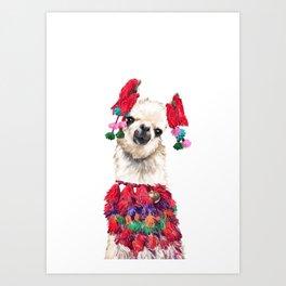 Coolest Llama Art Print