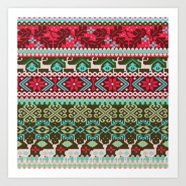 My favorite sweater | green and red Art Print