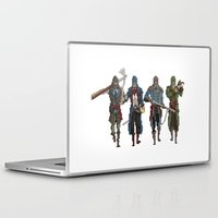 assassins creed Laptop & iPad Skins featuring Pixel Assassins by LPDuarte