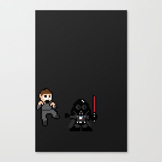Pixel Wars Canvas Print