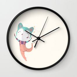 Dance Dreams (Cream) Wall Clock