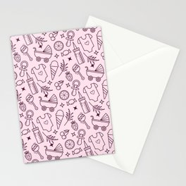 Pacify Me Pink Stationery Cards