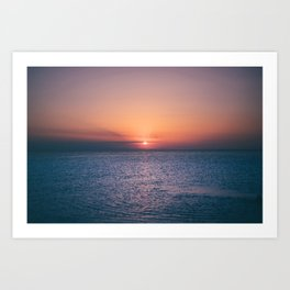 Beach Sunset // Landscape Photography Art Print