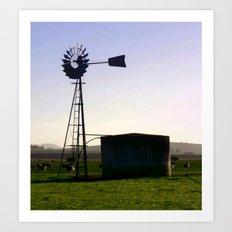 Early morning on the Farm Art Print