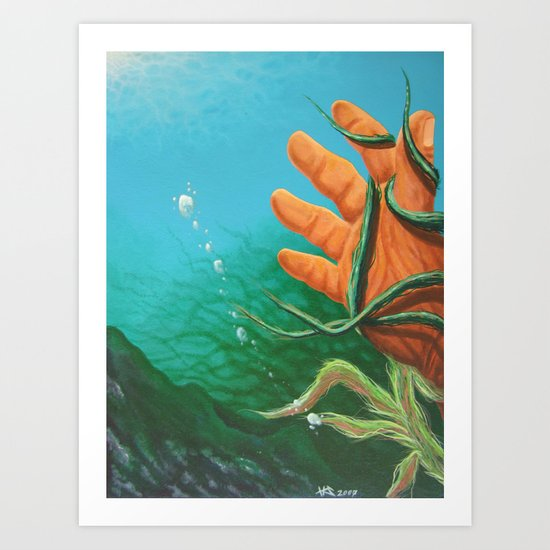 The Drowning Art Print