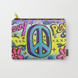 Groovy Peace Carry-All Pouch