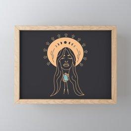 Desert Angel in Peach & Grey Framed Mini Art Print