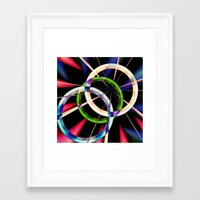 circles Framed Art Prints featuring circles by haroulita