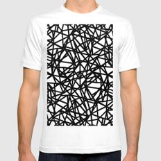 Ab Upside down Black SMALL Mens Fitted Tee White