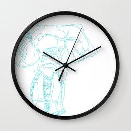 Lonely Elephant Wall Clock