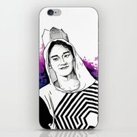 exo iPhone & iPod Skins featuring Chen - The Lost Planet - EXO by fabisart