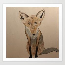 Fox gaze Art Print