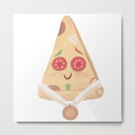 cute a slice of pizza Metal Print