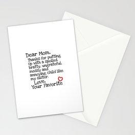 Dear Mom (Sister) Stationery Cards
