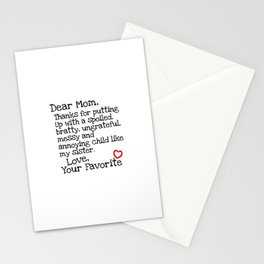 Dear Mom (Sister) Stationery Cards