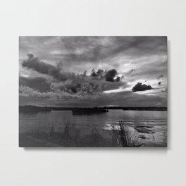 Monochrome Sunset Metal Print
