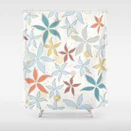 Seamless Pattern With Flowers Shower Curtain