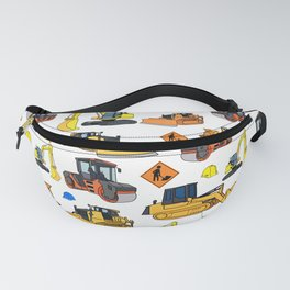Construction Vehicles Pattern Fanny Pack
