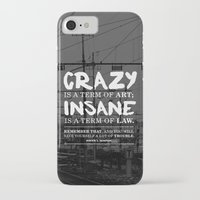 hunter s thompson iPhone & iPod Cases featuring Typographic Quote Design  [Hunter S. Thompson] by Kyle Berryman