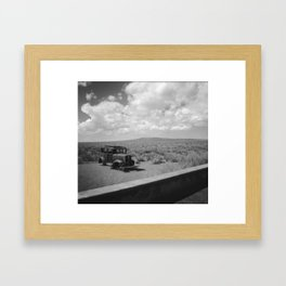 Old Car B&W Framed Art Print