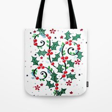 Christmas Curls Tote Bag