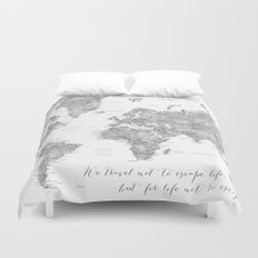 Worldmap duvet covers society6 we travel not to escape 210 by blursbyaishop 9999 world map 2 duvet cover gumiabroncs Gallery