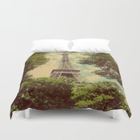 postcard Duvet Covers featuring Postcard by Emma.B