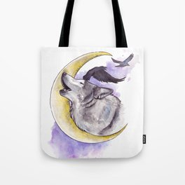 Crescent Howl Tote Bag