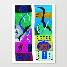 inspiration from Matisse Canvas Print