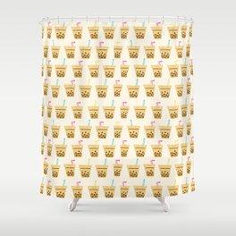 Milk Bubble Tea Shower Curtain