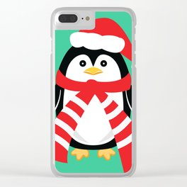 Christmas Penguin Clear iPhone Case