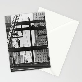 Steel workers New York City Stationery Cards