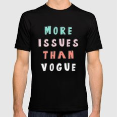 More Issues Than Vogue  MEDIUM Black Mens Fitted Tee