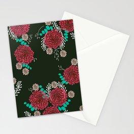 Chrysanthemums - Floral, Flower, Vintage, Design, Illustration by Andrea Lauren Stationery Cards