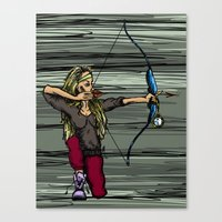 archer Canvas Prints featuring Archer by Natalie Easton
