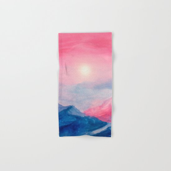 Pastel vibes watercolor 01 Hand & Bath Towel